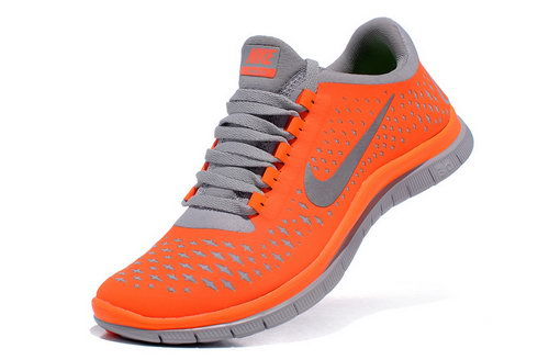 Nike Free Run 3.0 V4 Womens Orange Grey France